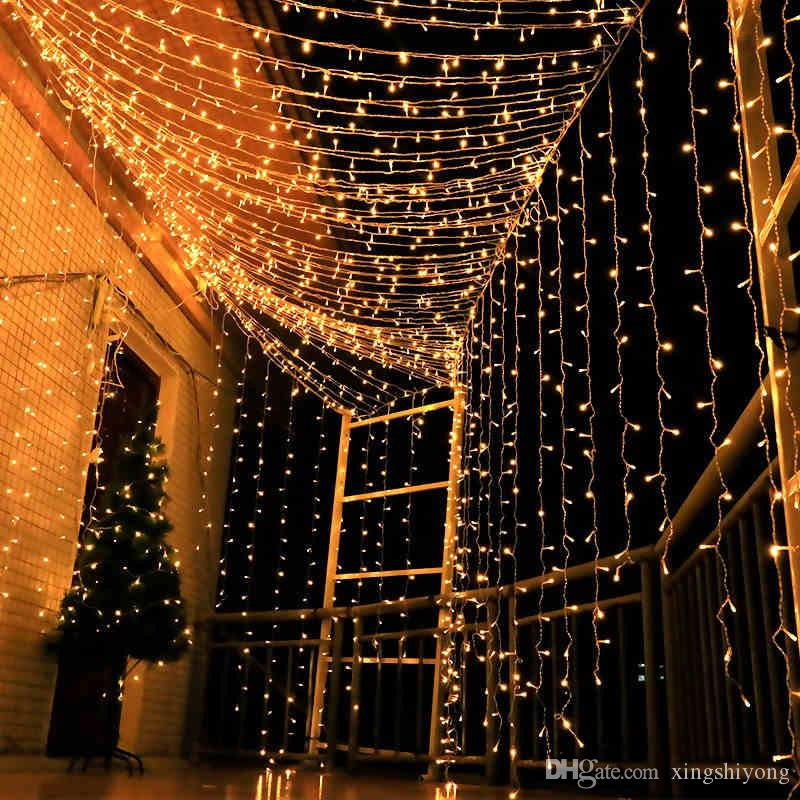 5M curtain icicle string lights patio cristmas Led lights outdoor Decor  EU  220