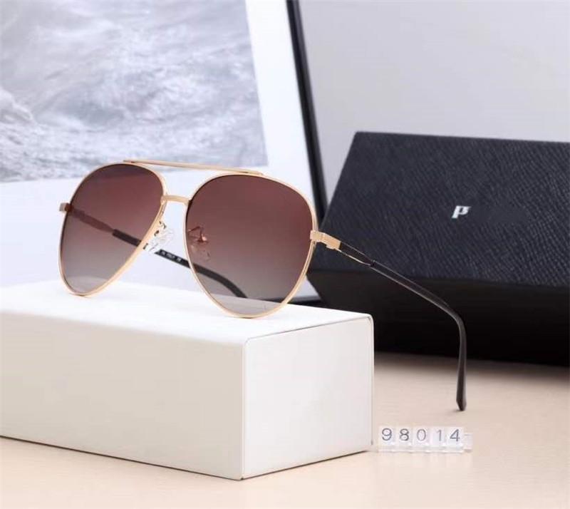 2020 nueva moda Un par de gafas de aviador gafas de sol unisex redondo grande Marcos con el paquete de la caja de envío rápido 98014