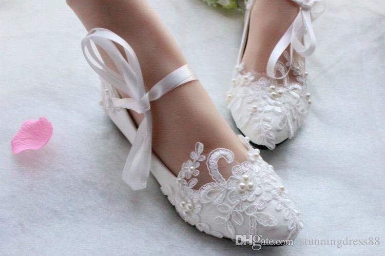 2020 Sexy Lace Up Flowers Bridal Shoes Wedding Bridal Shoes