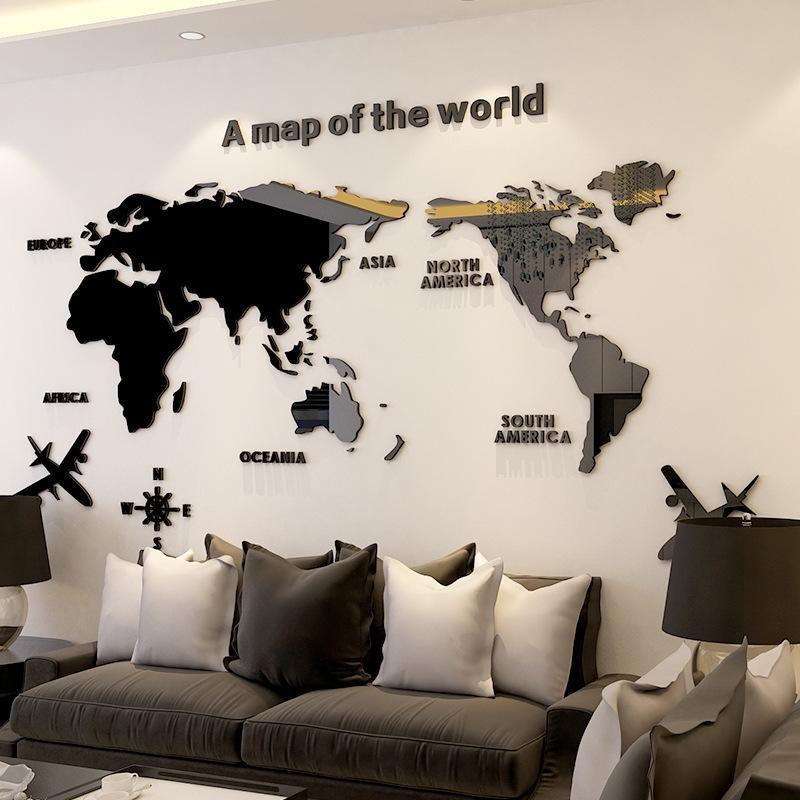 창조적 인 개성 디자이너 벽 스티커 북유럽 스타일의 아크릴 재료는 방 소파 배경 벽을 살고 입체 사무실 연구를 3D