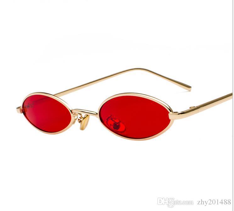 Gafas de sol vintage gafas de sol literarias de metal de borde fino gafas de sol con montura ovalada gota de agua gafas marinas