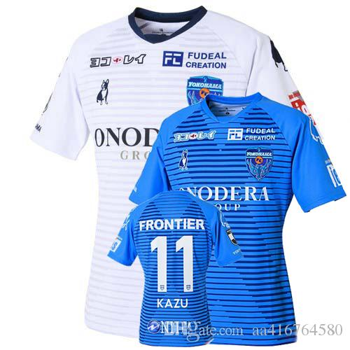 2020 2021 Yokohama FC maillots de camisa de futebol pé KAZU 20 camisa afastado de futebol 21 casa Camiseta de futbol