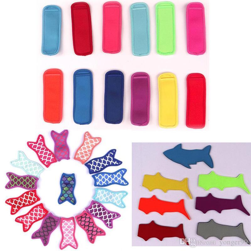Titular do picolé Novo estilo de tubarão ice lolly conjuntos de verão colorido ice cream Ice Pop Ferramentas Para crianças presentes para crianças navio Livre