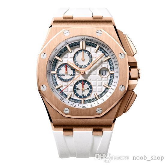 Uomini Orologi Top di alta qualità macchinari cronografo automatico di affari di sport orologi in acciaio inox 45 millimetri 30M impermeabile da polso