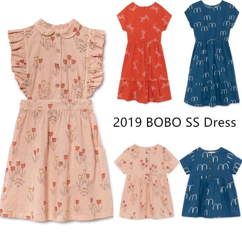 Beste Qualität ! 2019 Bobo Mädchen Kleider Tiny Cottons Kinder Schöne Mädchen Langes Kleid Markendesign Kinder Sommerkleidung J190616