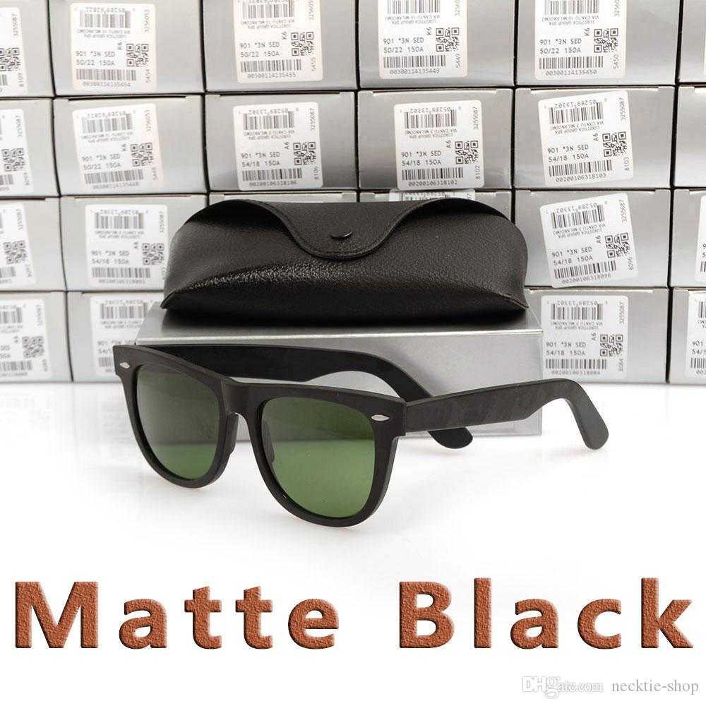 New Matte Black sunglasses mens sun glasses glass Lens Plank sunglasses High Quality womens glasses UV protection eyeglass 50/54 sun glasses