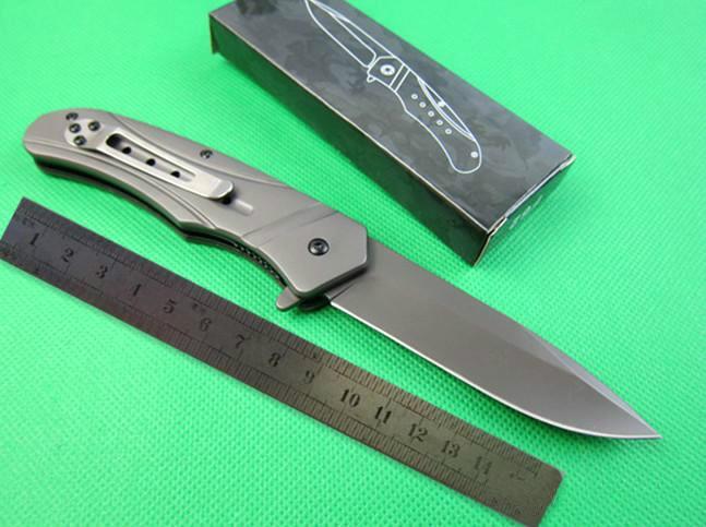F62 Quick Open Складной нож Ножи Открытый Кемпинг Охота Карманный нож Подарок Xmas подарка ножа Adfaca для человека 1шт FreeShipping