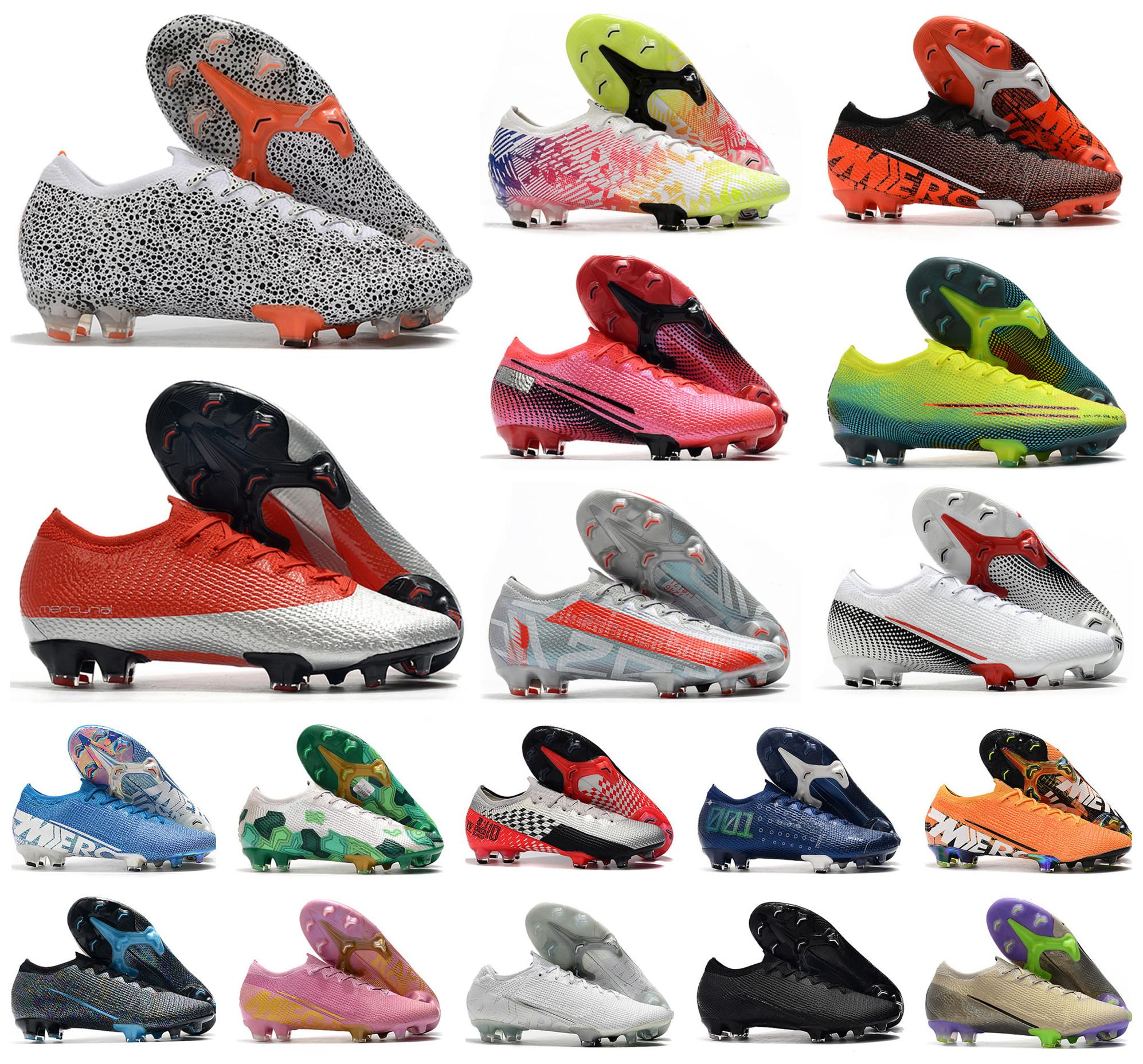 2020 Männer Mercurial Dämpfe XIII Elite FG 13 CR7 SAFARI Ronaldo Neymar NJR Rosa 360 Frauen Junge Fußball-Fußball-Boots-Schuh-Größe 35-45