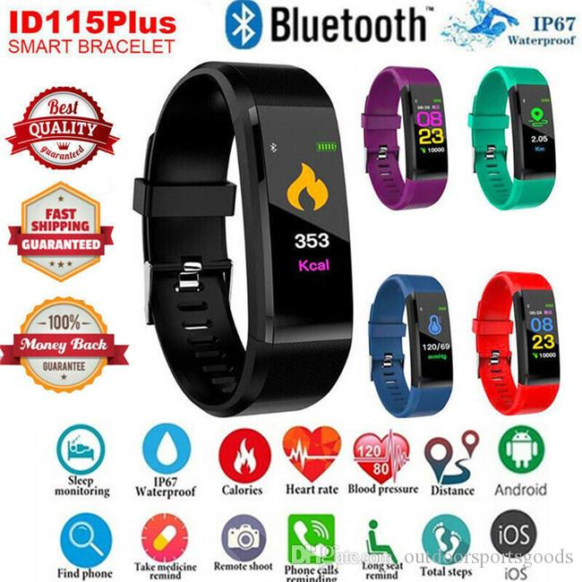 Outdoor waterproof Smart bracelet 115plus blood pressure heart rate sports color screen step bracelet watch true heart rate Couples watch