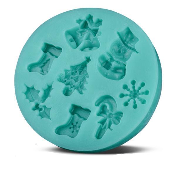 Silicone De Noël Fondant Moule Père Noël Bonhomme De Neige Arbre De Noël Gâteau De Neige Décoration De Cuisson Au Chocolat Biscuit Moule