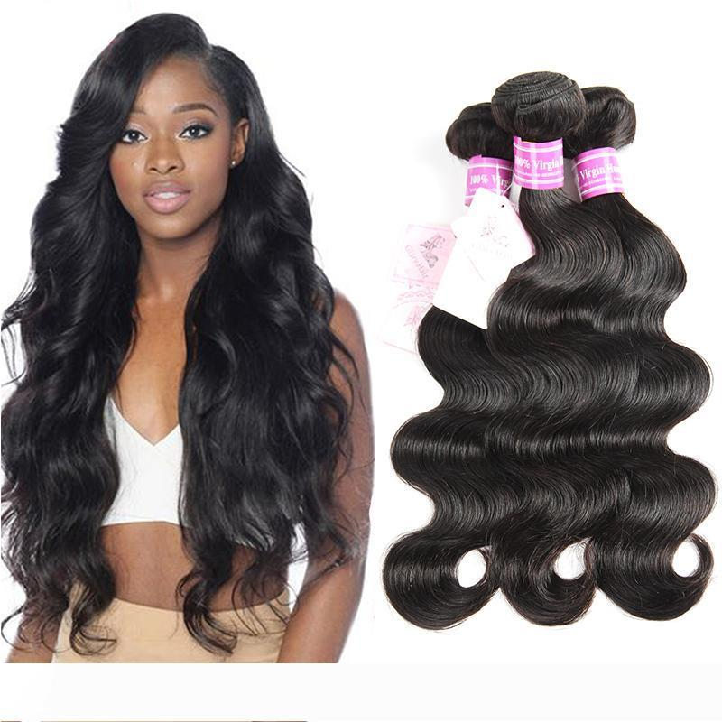 Dhgate Bemiss On Sale Brazilian Virgin Human Hair Weaves Malaysian Hair Bundles Indian Peruvian Mongolian Cambodian Natural Color Body Wave