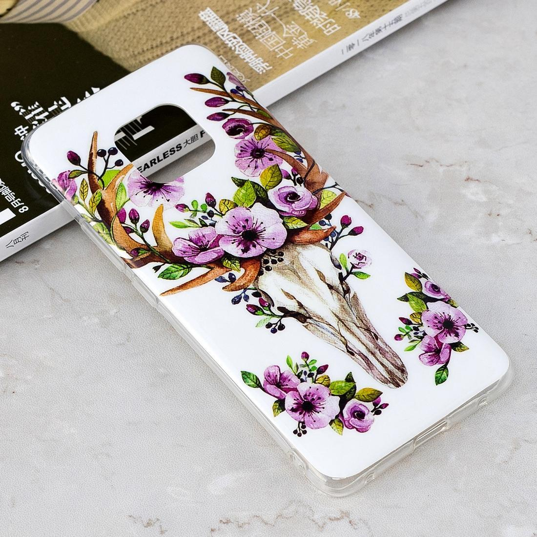 Luminous Sika Deer Pattern Shockproof TPU Protective Case for Huawei Mate 20 Pro