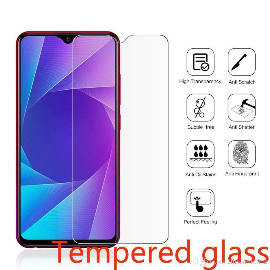 500pcs téléphone portable en verre trempé pour VIVO X27 X30 X23 X20 X9 X7 Pro Plus Y5S Y7S Y9S Y11 Screen Protector DHL gratuit