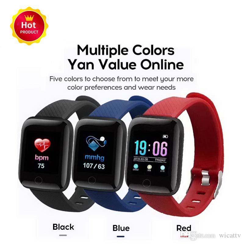 116 Artı Akıllı Bilezikler Spor Izci Kalp Hızı Adım Sayacı Etkinlik Monitör Bileklik PK 115 ARTı iphone Android için