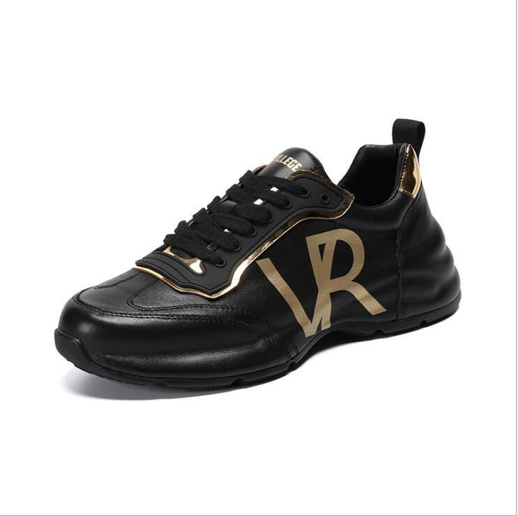 2020 nouvelles haute semelle souple pour hommes occasionnels en cuir chaussures de sport mode chaussures ANTISKID taille automne 38-44