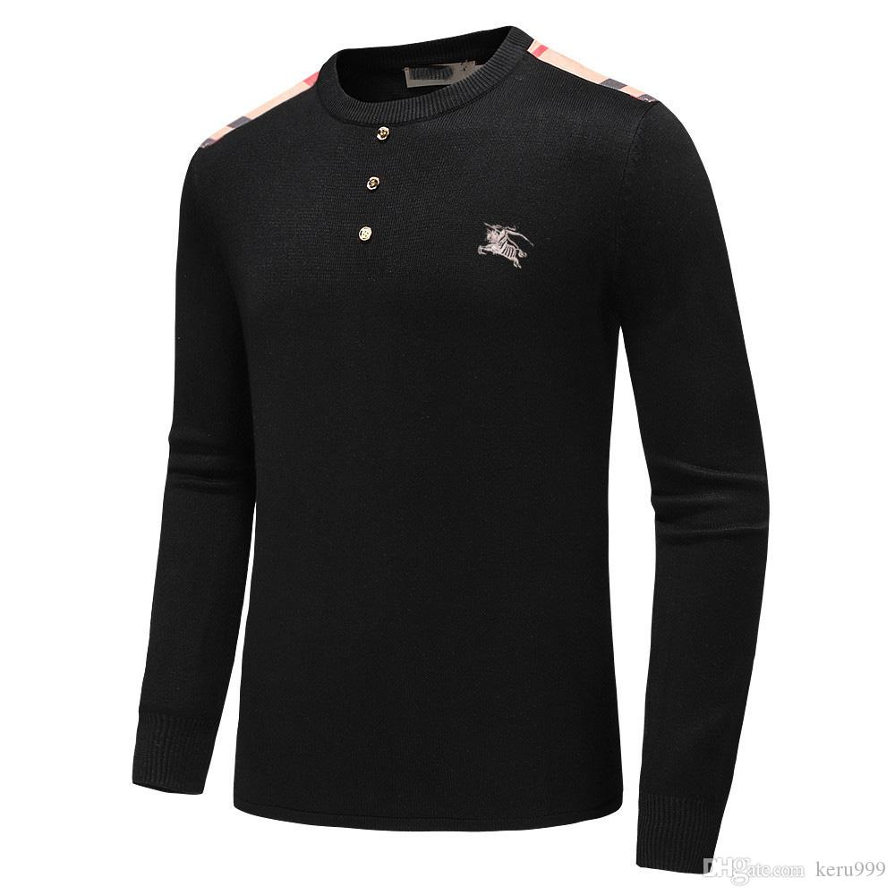 Advanced Designer Long Sleeve T Shirts Men White black Hoodie fashion Brand Top High Quality clothing Sweater S-XXXL