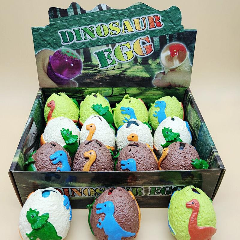 Second Generation TPR Dinosaur Egg Toys 7cm Extruding Stess Release Ball Children Decompression Hatch Egg Water Ball Kneading Joy Toy L546