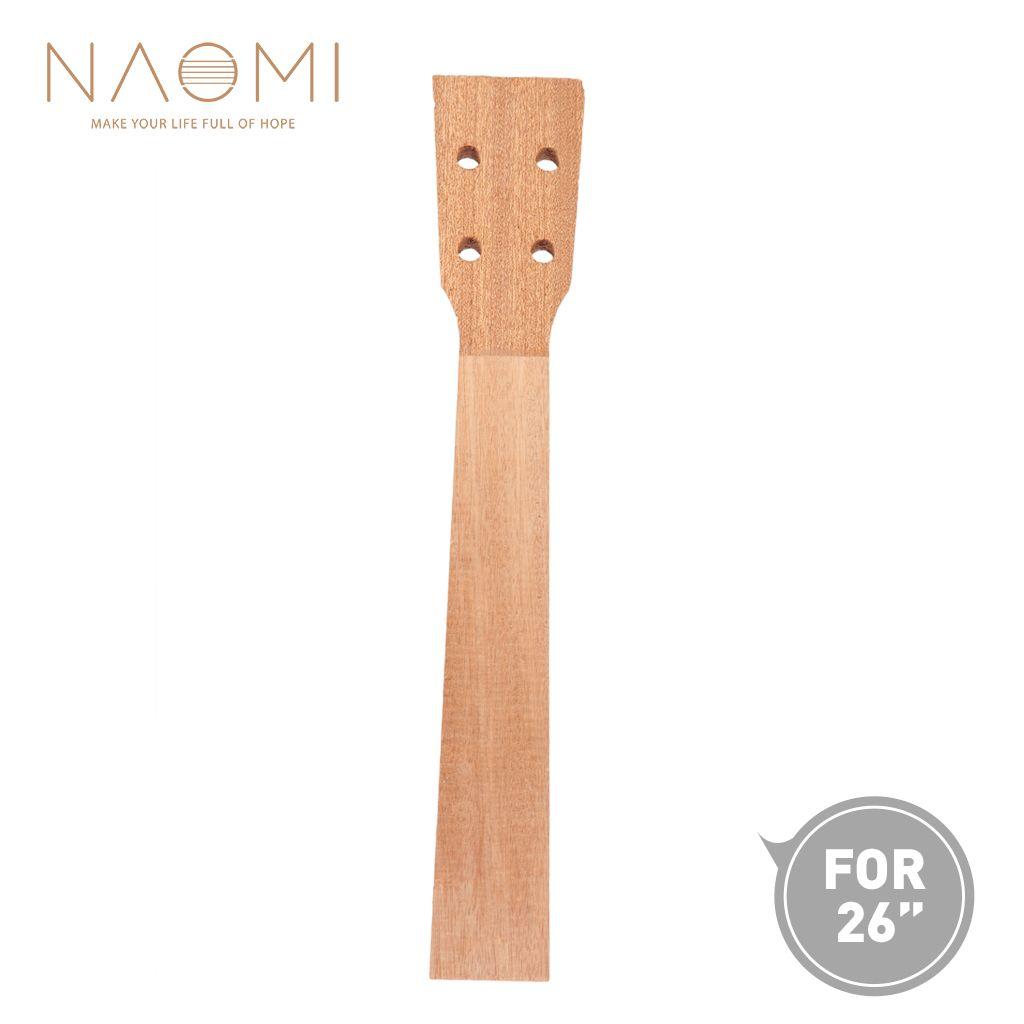 NAOMI 26 '' Ukulele Neck Sapele Tenor Ukulele Pescoço Para 26 Polegada Ukelele Uke Guitarra Ukulele Luthier Ukulele DIY