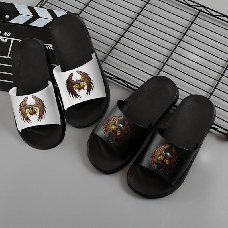 Slippers Men Eagle Pattern Indoor Summer Beach Sandals Dobla resistente al desgaste