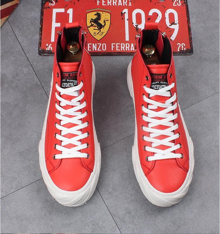 Nuovo stile di alta qualità moda uomo sneakers francia uomini in vera pelle appartamenti graffiti stampa scarpe da ginnastica da passeggio scarpe da festa Z177