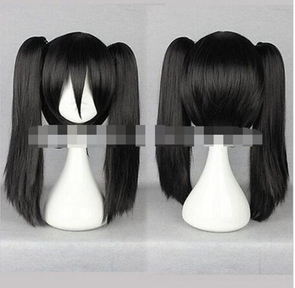 Бесплатная доставка + + + + длинные прямые черный косплей парик аниме Kagerou проект-Эномото Такане