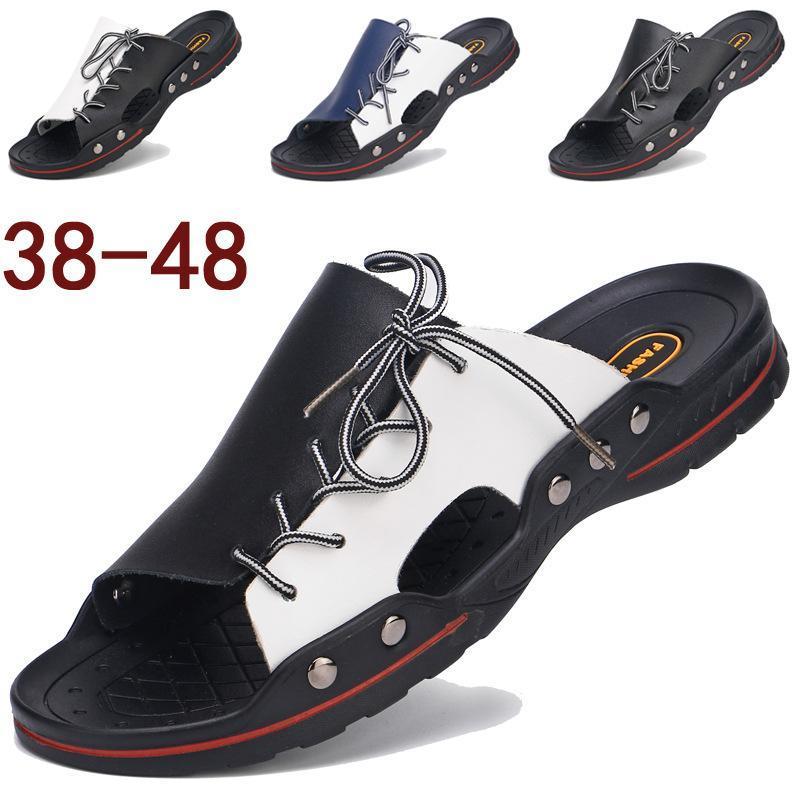 Designer pas cher hommes Plage Slides Mode Chaussons lacent Hommes Sandales Piscine Trois couleurs Chaussures Chaussures Casual
