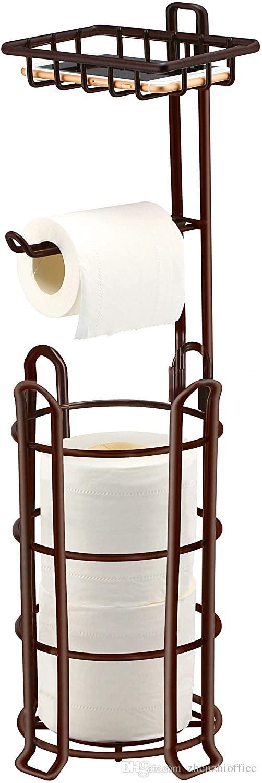 Sostenedor de papel higiénico de papel higiénico Stand 4 levantadas Accesorios Pies Papel higiénico dispensador de papel portátil