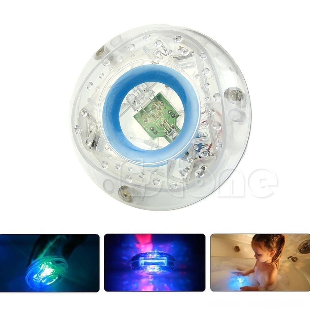 Nuevo partido en otros juguetes de la tina de baño Hacer una diversión cambio de color baño de los cabritos divertido juguete de la luz LED Y4UD