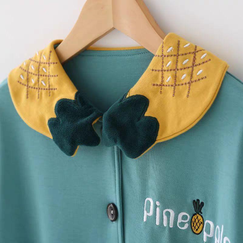 printemps pyjamas pour enfants fille et long automne bébé coton manches moyen mince et gros vêtements à la maison de coton enfants princesse fille de set