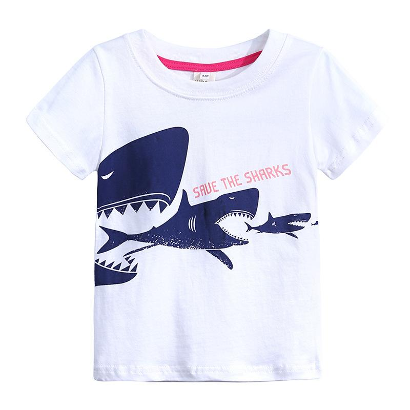 Baby Girls T-shirt Short Sleeves Cartoon Animal Pattern Baby Girls Top for Summer Cotton Knitted Childrens Boys T-shirt