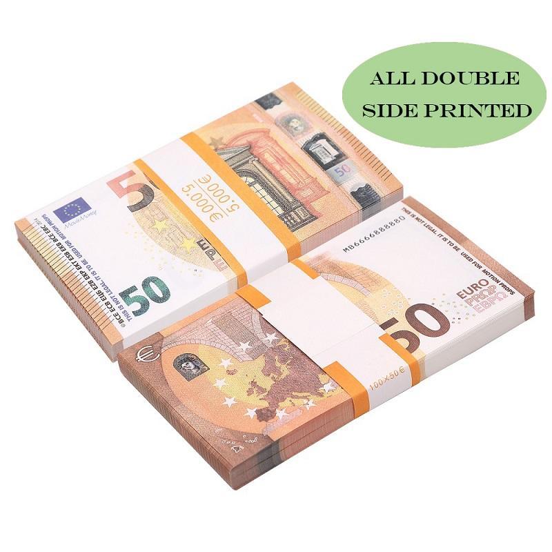 Melhor Falso Prop Copiar dinheiro crianças aprendizagem brinquedos Ferramenta para filmes de 5/10/20/50/100/200 Euro Sem holograma
