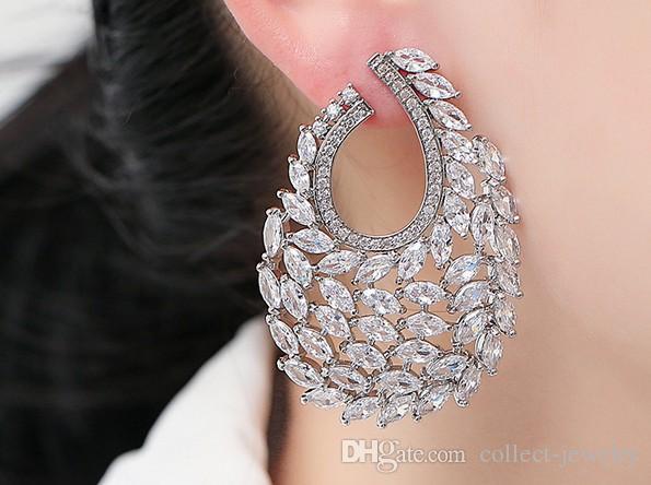 귀족 다이아몬드 크리스탈 레이디의 earings (37.32) hghfh