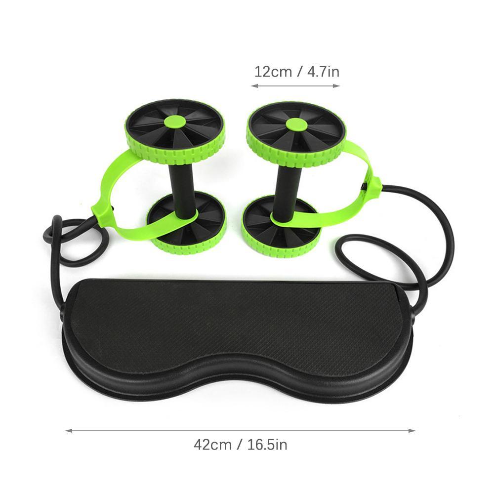 Multi-Funktions-AB Räder Rollen Stretch Elastic Bauch Widerstand Pull Seil Werkzeug Roller für Bauchmuskeltrainer Übung