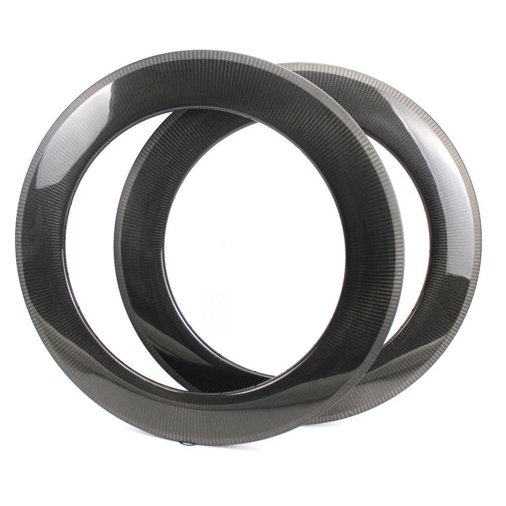 roda de fibra de carbono de alto perfil 88 milímetros Profundidade Jantes Clinche / Tubular / Tubeless Para bicicleta de estrada e carbono Triathlon rodado Com 1k 3k 12k UD