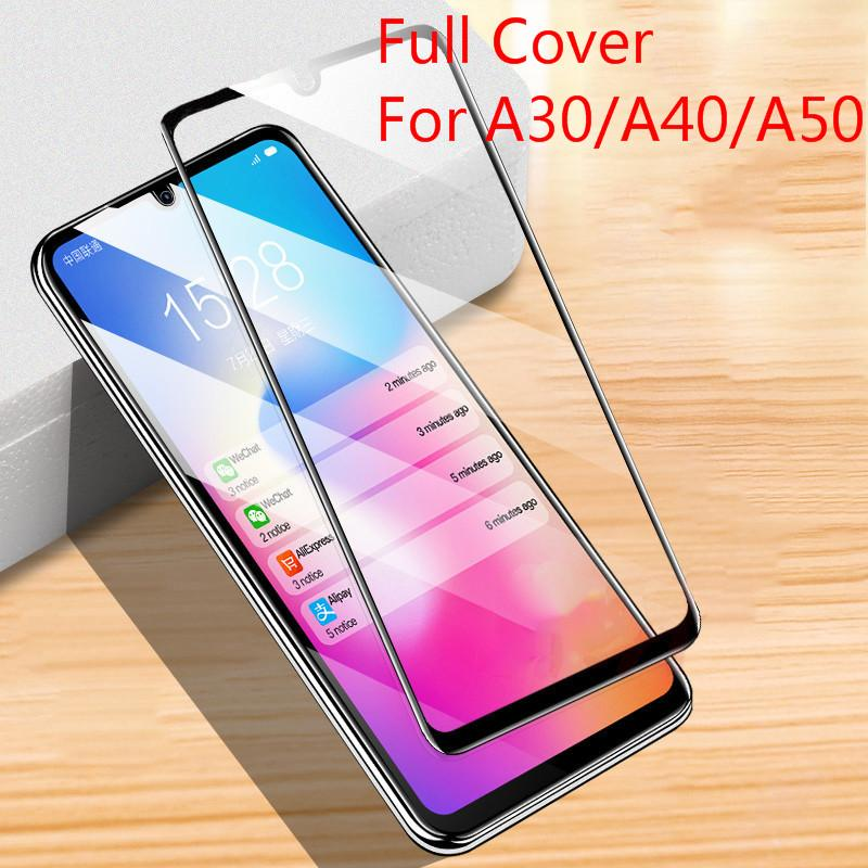 9H cobertura completa de vidro temperado para Samsung Nota 10 S10 Lite A10 20 30 50 A60 80 A90 A70 M10 M20 M30 S A51 A71 A91 Anti-scratch protetor de tela Protector