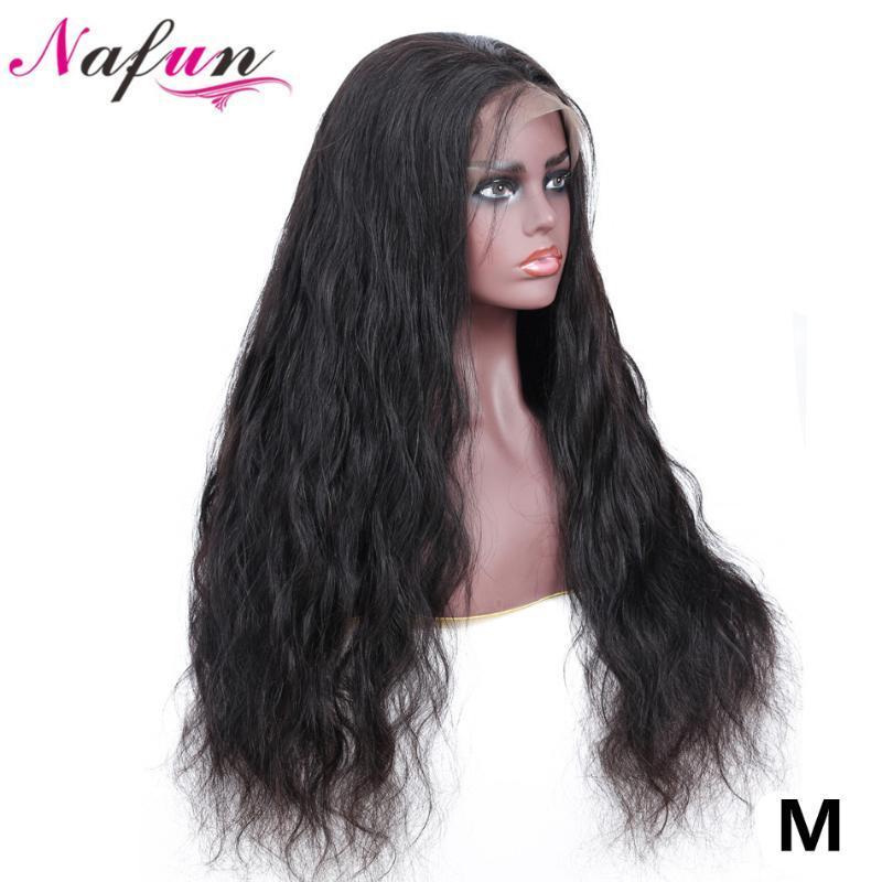 NAFUN 13x4 Lace Front perruques pour les femmes noires péruviennes non-Remy Corps Weave perruque Lace Front perruques de cheveux humains Moyen Ratio 150% Densité