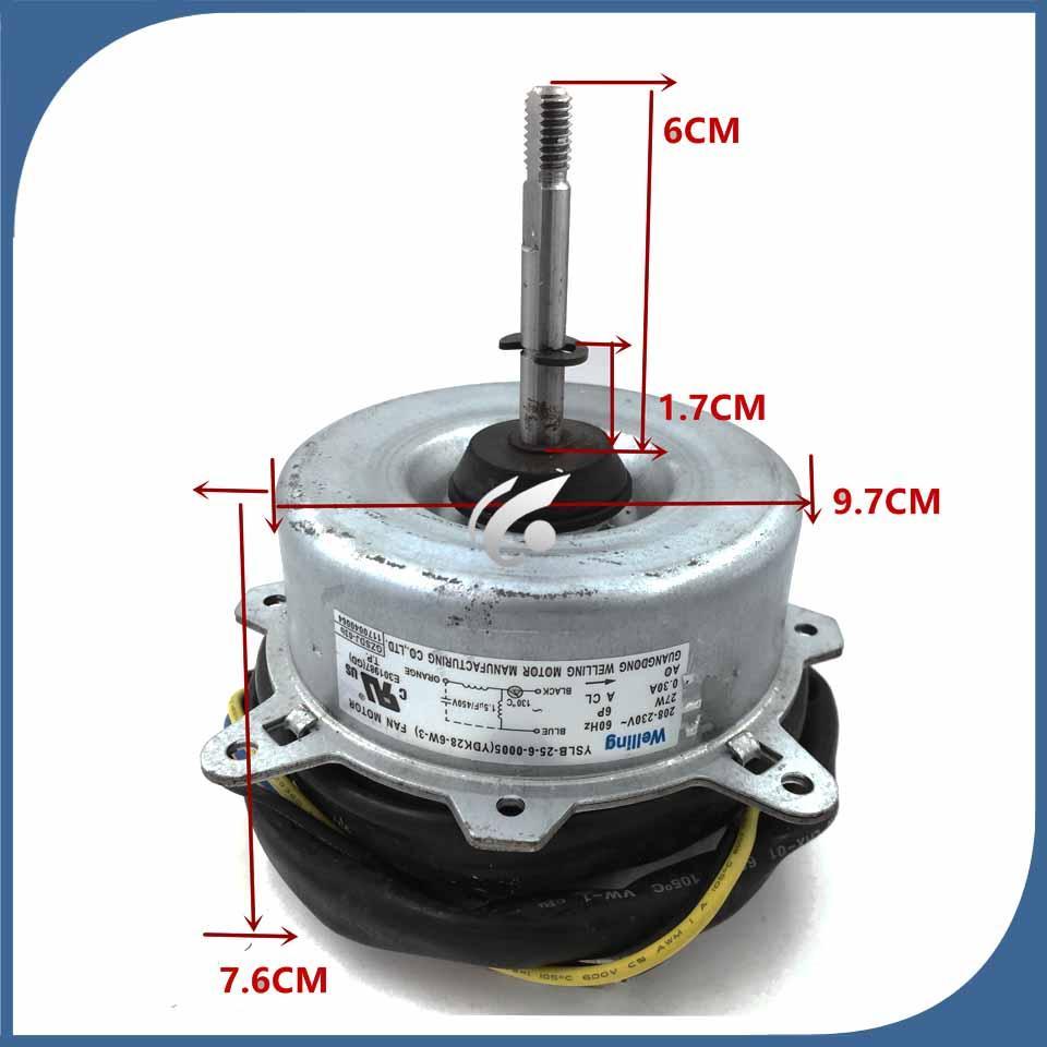 Klima Fan motoru makinesi motoru YSLB-25-6-0005 (YDK28-6W-3) 27W iyi çalışması için iyi bir çalışma