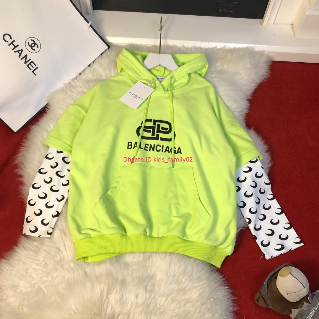 2020 Children Hoodies Kids Designer Clothing Autumn Boys And Girls Fashion Fake Two Piece Sweatshirt Letter Design Hoodie From Wzk526 30 55 Dhgate Com
