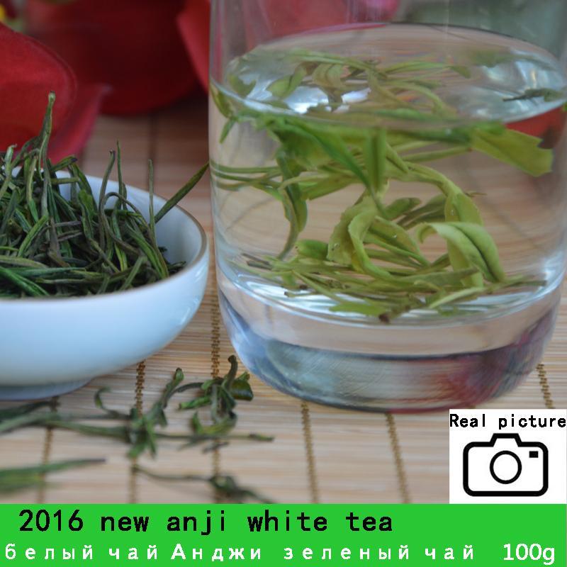 Premium! [Beaucoup] 100 g Chine thé blanc organique aiguille Super Anji baicha thé pour la santé des soins de santé et Slim