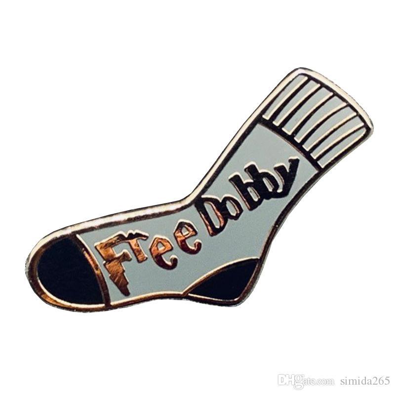 Livre Dobby esmalte pin bonitinho meia broche elf lerdo crachá do presente que HP