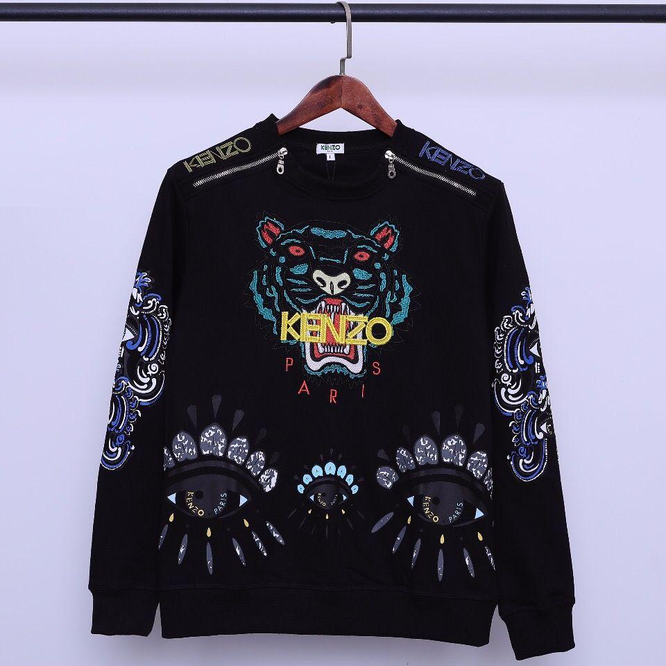 Herren Sweatshirt 2019 Herbst New Fashion Trend Schwerindustrie Tiger Sweater Paare Zipper Eye Print Langarm Casual Sweatshirt