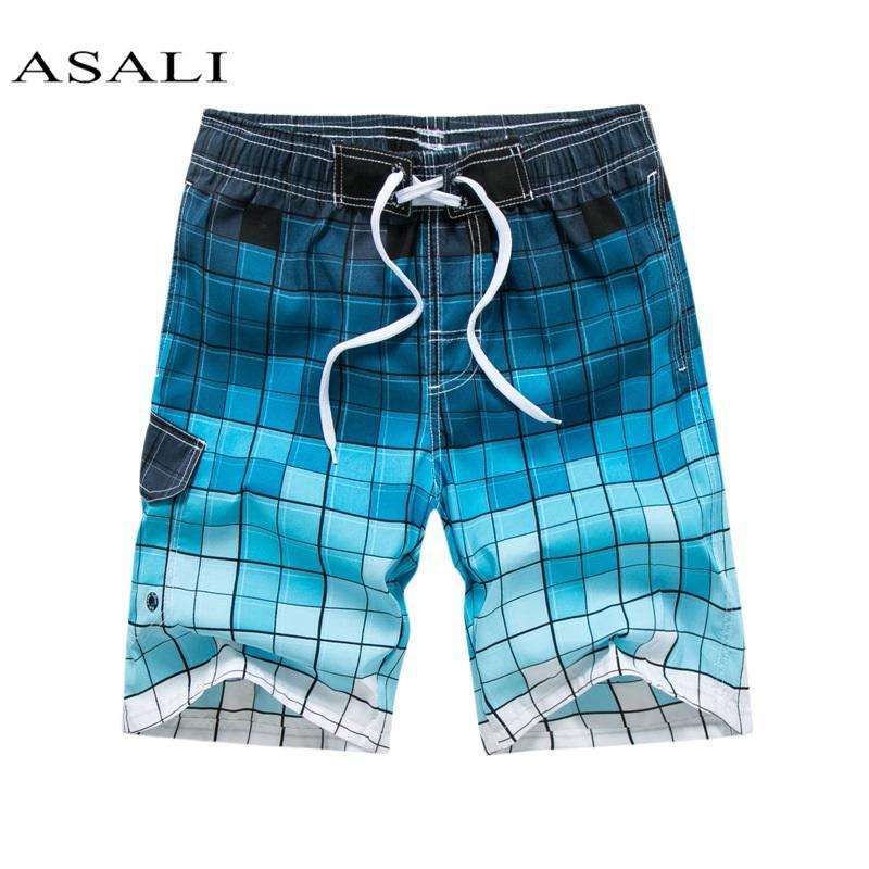 Verano bermudas nueva cortocircuitos de la playa pantalones cortos para hombre sudor de surf playa trajes de baño traje de baño Bottoms plavky carga masculina troncos