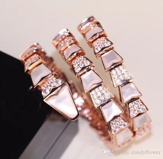 CZ diamant manchette élastique bracelet créateur 18K plaqué or parti bijoux pour les femmes