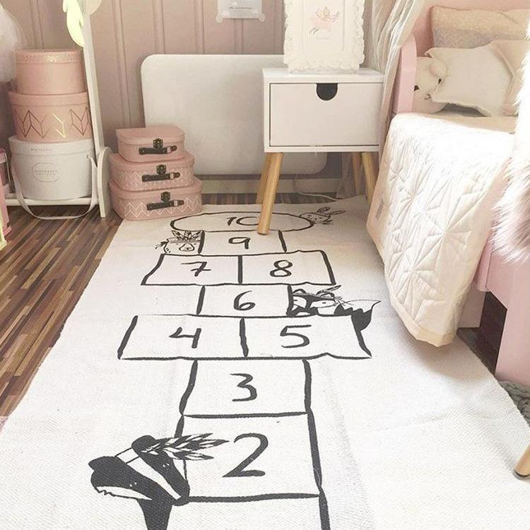 mylb 72x170cm tapis de jeu pour bébé rembourré jeu couverture puzzle tapis enfants jouent crawl playmat coton