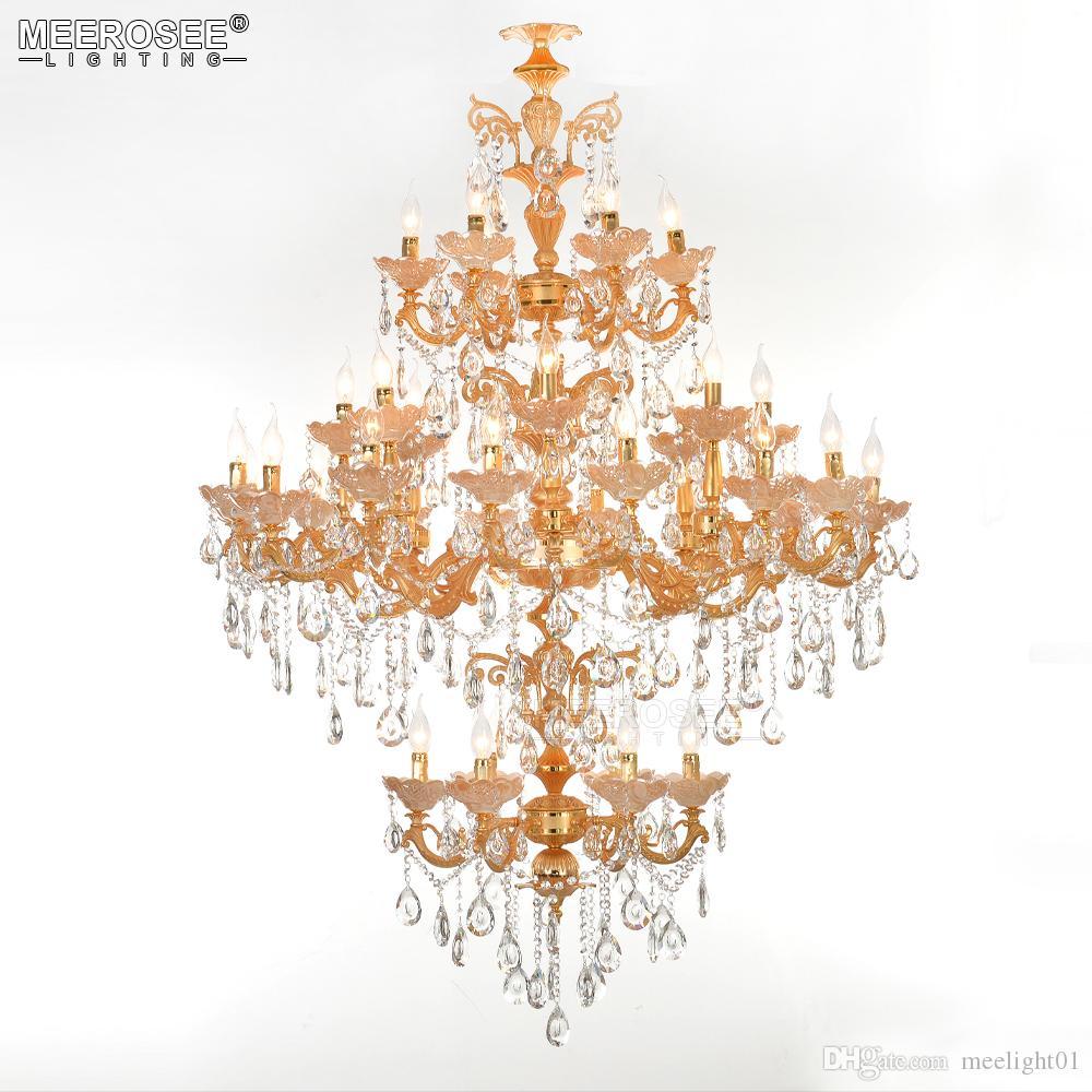 Modern candelabro de cristal luminária Boa Qaulity Pendant Light Montagem Lustres de Cristal para Restaurant Hotel Projeto de luminárias Abajur