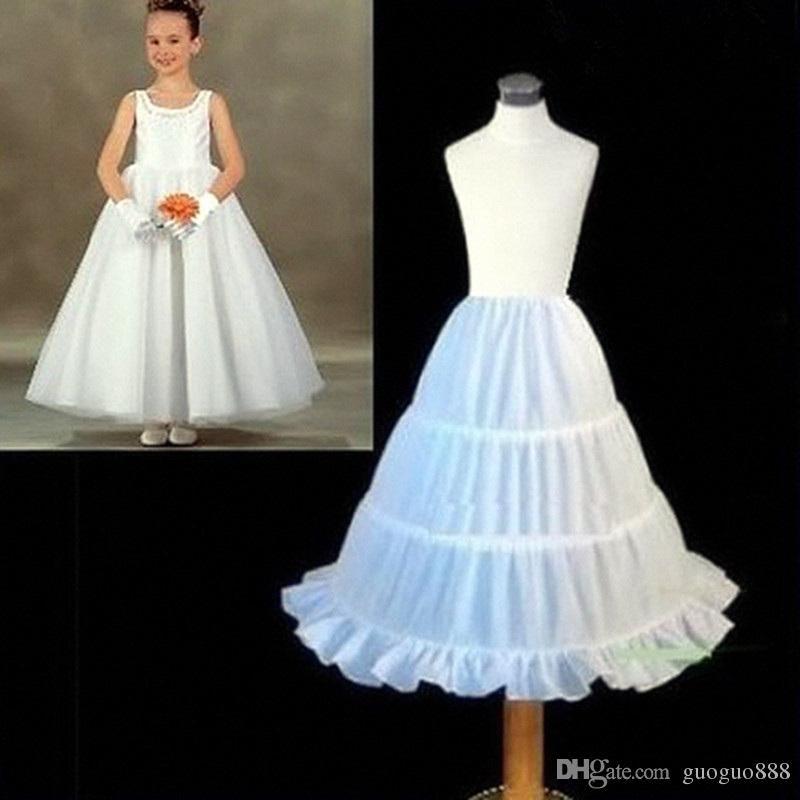 Flower Girl Kids Petticoat Children Crinoline Undersakirt Slip for Little Girl 55cm Long 3-Hoops High Quality Fast Shipping