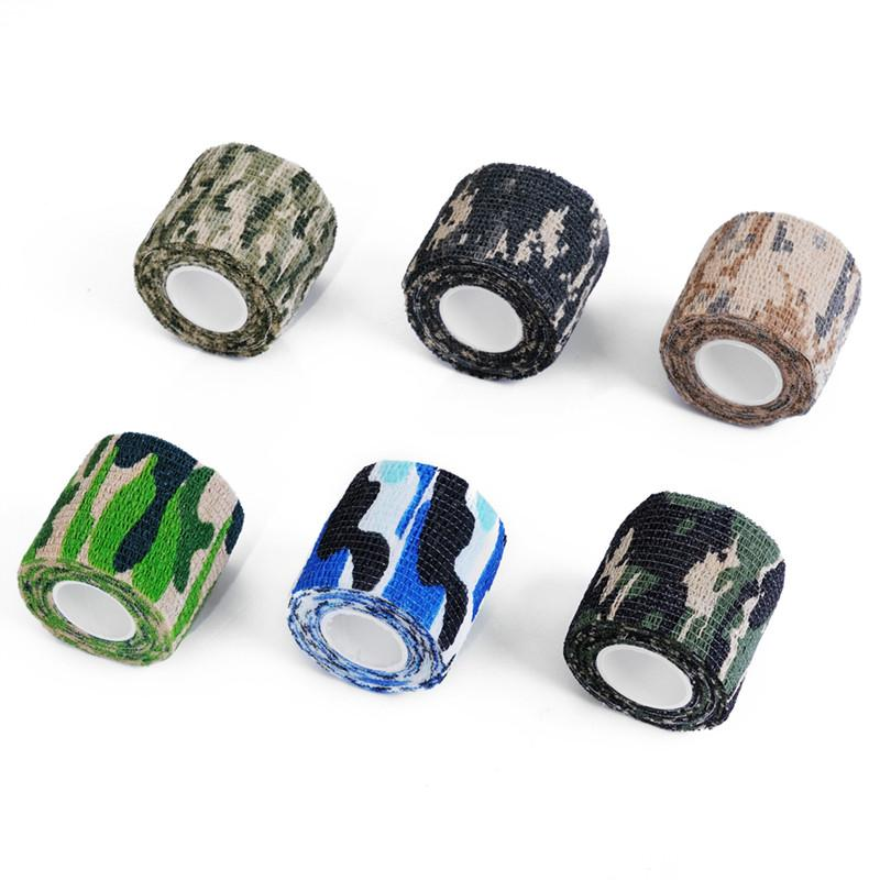 Military Camouflage Adhesive Tape Security Protection Waterproof Elastic Self Adhesive Medical Elastic Bandage First Aid Kit Gun (4)