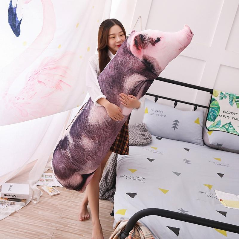 Simulated Sleeping Pig Plush Pillow Animals Stuffed Pillows Kids Adults Pets Bolster Sofa Chair Decor Friend Gift 50/70/90/120cm