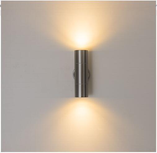 L'acier inoxydable a mené la lumière extérieure de lampe de mur menée extérieure en haut et en bas des lumières de porche a mené la lampe de parenthèse de 10W (deux côtés 5W)