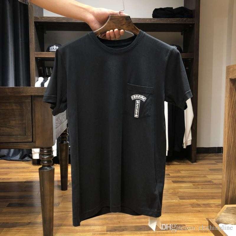 Ventas calientes para hombre T Shirt de alta calidad Blackletter letra patrón impreso clásico popular hombre mujer camisetas 6 estilos